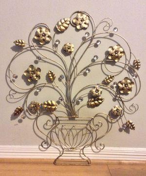 Gold Metal Flower Rhinestoned - Wall Art for Sale in Atascocita, TX