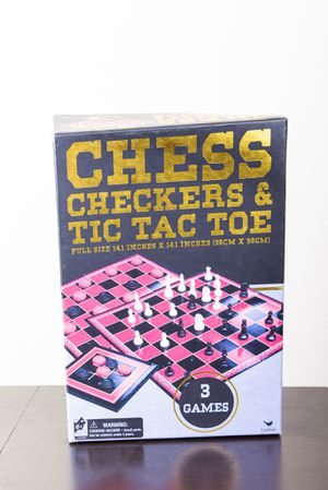 Chess Checkers and Tic-Tac-Toe board game Set for Sale in Tampa, FL