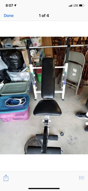 Bench and weights for Sale in Norco, CA