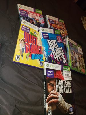 6 XBOX 360 KINECT GAMES ..W/KINECT for Sale in District Heights, MD