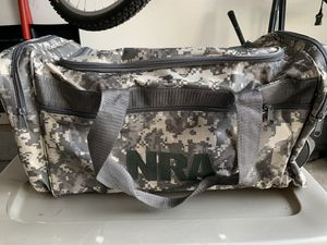 NRA Camouflage duffle bag for Sale in Middle Island, NY