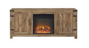 Barn Door Electric Fireplace TV Console for Sale in Benjamin, UT