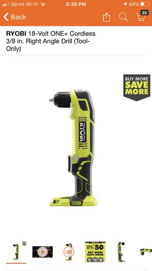 RYOBI 18-Volt ONE+ Cordless 3/8 in. Right Angle Drill (Tool-Only) for Sale in Pomona, CA