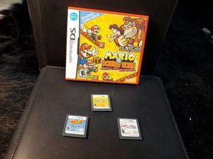 Nintendo DS video game lot of 4 Mario hot wheels kart fun kids donkey kong for Sale in Dallas, TX