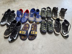Free 4.5 size boys cleats, saddles, and shoes. for Sale in Maple Valley, WA