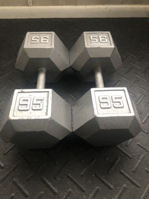 Pair of 95 pound dumbbells for Sale in Linwood, NC
