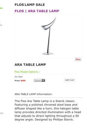 FLOS ARA horn table lamp for Sale in Phoenix, AZ