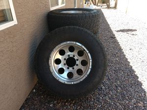 """4-18"""" 8x6.5 rims with tires for Sale in Chandler, AZ"""
