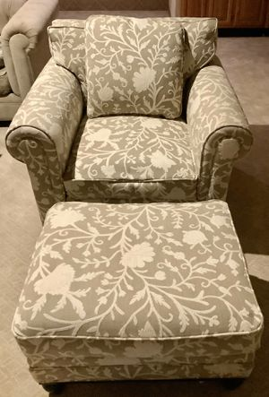 Martha Stewart Collection Armchair and Ottoman for Sale in Woodinville, WA