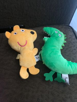 "Peppa pig and George stuffed ""dinosaur"" and ""bear"" for Sale in Tacoma, WA"