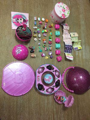 Little girls toys Shopkins & Lol dolls $35 obo for Sale in San Marcos, CA