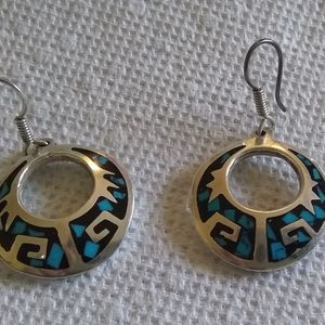 Turquoise and Silver Earrings for Sale in Yucaipa, CA