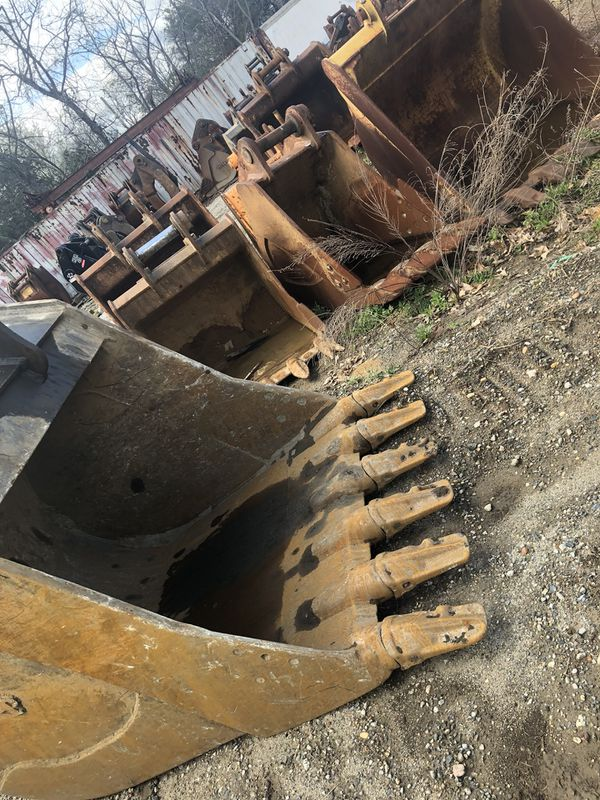 Excavator buckets all different sizes