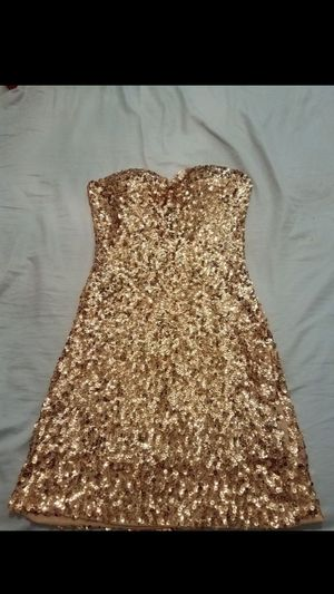 Brand new Strapless size small/medium sequin dress for Sale in Houston, TX