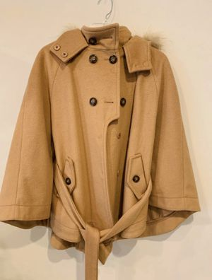NWT Tan brown khaki pea cape shawl coat jacket for Sale in Silver Spring, MD