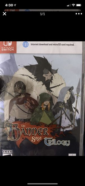Nintendo switch the banner saga trilogy for Sale in Wildomar, CA