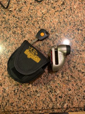 On guard motorcycle rotor style lock for Sale in Chicago, IL