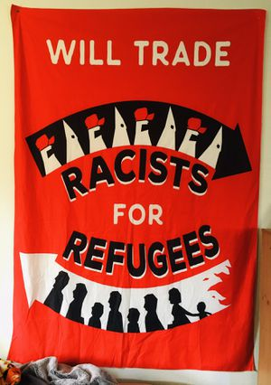 Brand New Cotton blend political tapestry 7 x 5 foot for Sale in San Francisco, CA