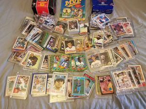 Over 1400 baseball basketball football cards Autograph rookies etc... for Sale in Cleveland, OH