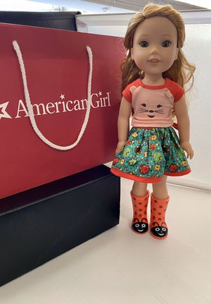 "American Girl Wellie Wishers Willa Girl Doll with Outfit 14.5"" preowned for Sale in Miami, FL"