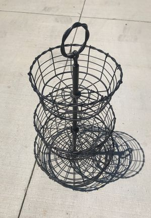 3 tier Extra Large basket for kitchen bathroom or misc for Sale in North Ridgeville, OH