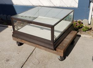 Metal glass display case commercial use, very heavy duty. No stand included, you get only what you see in pictures for Sale in Orange, CA