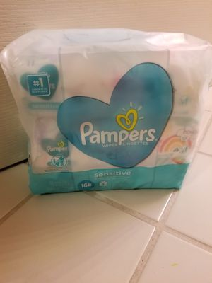 Pampers 168- Count Sensitive Baby Wipes for Sale in Vista, CA