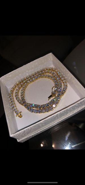 Diamond tennis chain 22 for Sale in Coral Gables, FL
