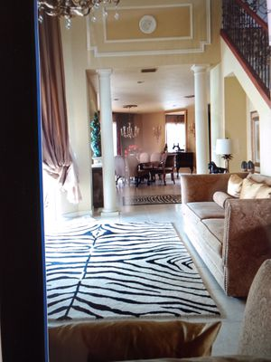 Large Zebra Rug for Sale in West Palm Beach, FL