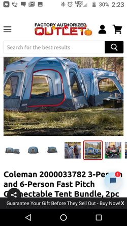 Coleman Connectable 6 Person Fast Pitch Tent Buble for Sale in Richland,  WA