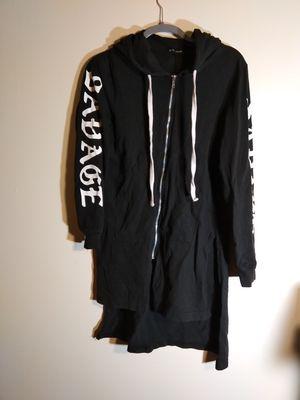 Savage hoodie long black men size medium drawstring for Sale in Takoma Park, MD