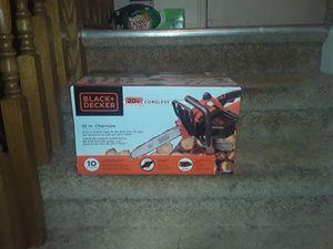 """Black n decker 20v cordless 10"""" chainsaw for Sale in American Fork, UT"""