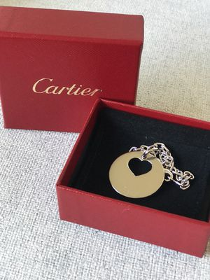 Cartier keychain strap with heart charm for Sale in Coronado, CA