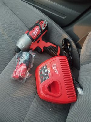 Milwaukee m12 impact drill set battery 1.5 and charger all new firm price or don't waiste my time please for Sale in Modesto, CA