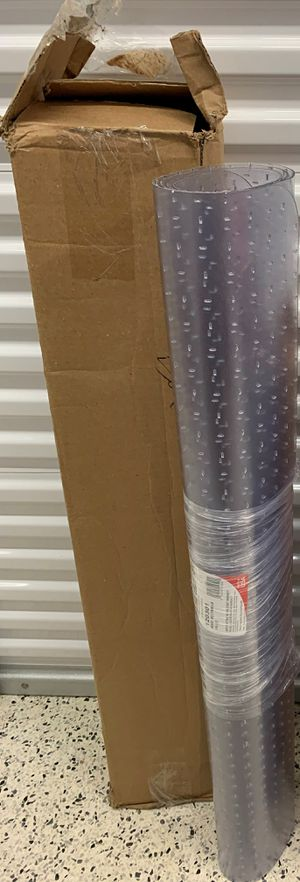 """Chair Mat for Flat/Low Pile Carpet - Rectangle, 46"""" x 60"""" No Lip, Clear for Sale in Lawrenceville, GA"""