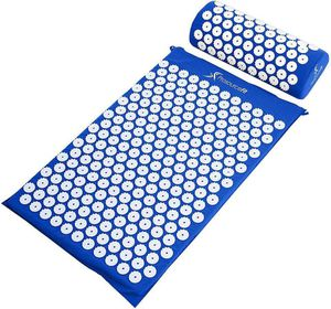 NEW-ProsourceFit Acupressure Mat and Pillow Set for Back/Neck Pain Relief and Muscle Relaxation for Sale in Orland Park, IL