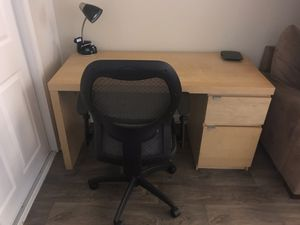 IKEA Wooden Desk & Office Chair for Sale in Redwood City, CA