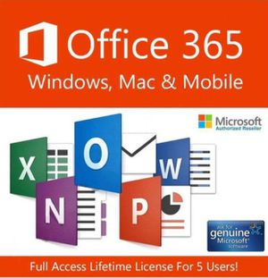 Microsoft Office 365 Pro Plus 2020 Lifetime Licence for 5pcs Win Mac 5 TB cloud Instant Delivery for Sale in Washington, DC