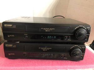 SHARP XA605A VCR 19 MICRON HEADS 4-HEAD VHS - $50/each for Sale in San Jose, CA