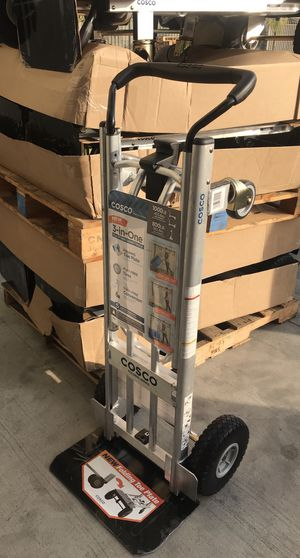 $80 each NEW aluminum heavy duty hand truck lay flat dolly 1000lb capacity utility cart flat free tires for Sale in El Monte, CA