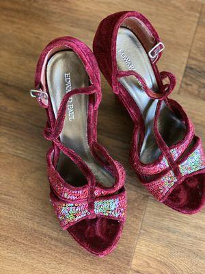 Edward Paul velvet wedge sandals for Sale in Katy, TX