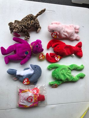 Beanie Babies 7 pieces sought after models for Sale in Manassas, VA