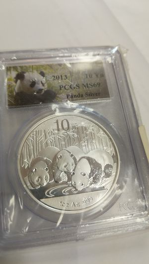 PANDA SILVER SOLID 2013 coin for Sale in Leesburg, VA