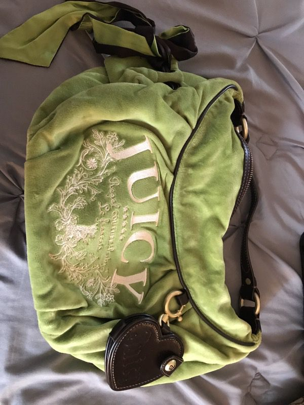 Juicy couture green velour purse