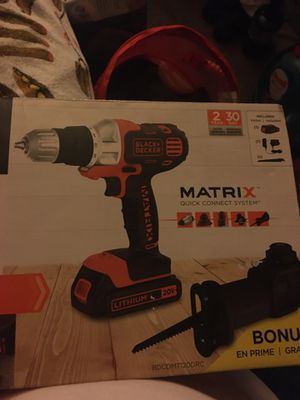 Black+Decker Matrix drill/driver+Reciprocating Saw Attachment for Sale in Union City, CA