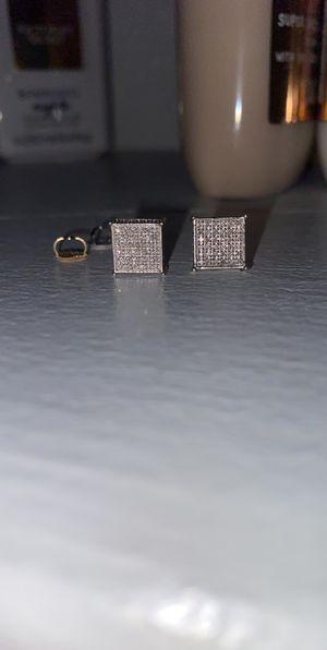 Diamond Earrings screw on backs for Sale in Denver, CO