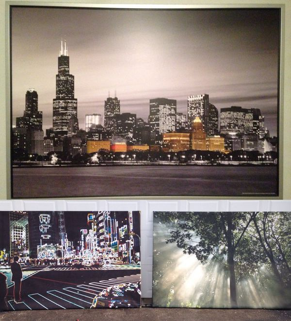Lighting Chicago Il: 3 Ikea Paintings Big PREMIÄR Picture, Crescendo Of Light