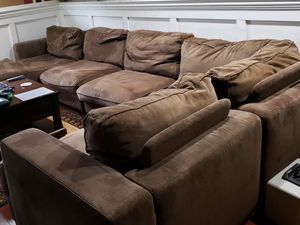 Sectional sofa couch with ottoman for Sale in Melrose Park, IL