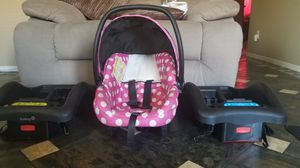 Car seat and 2 bases for Sale in Phoenix, AZ