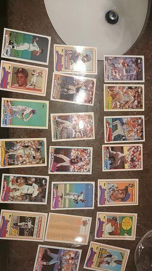 1989 Topps jumbo talking baseball cards ruth, Aaron lot of 20 for Sale in Las Vegas, NV